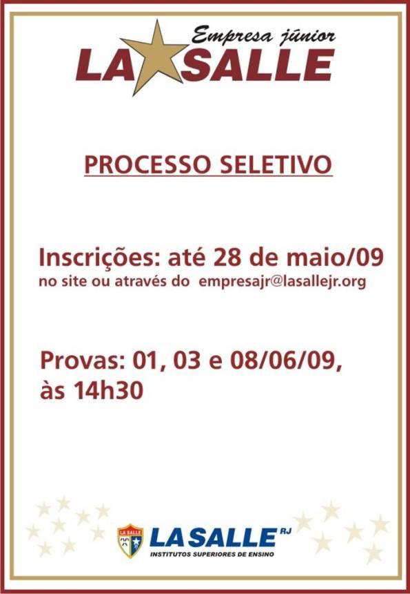 Processo Seletivo 2009/2